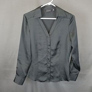 3 for $10- Black Shiny blouse size 6
